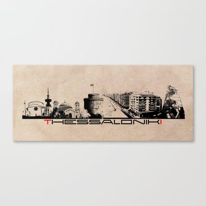Thessaloniki skyline city Canvas Print