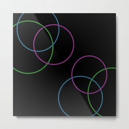 Loop Color Metal Print