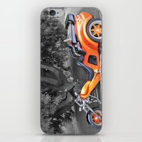 motorbike iPhone & iPod Skins featuring Three-wheeled Motorbike by Lynn Bolt