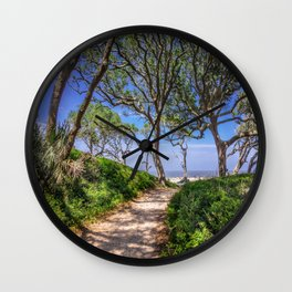Beach Path Wall Clock