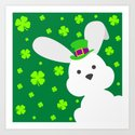 ST. PATRICK'S DAY BUNNY (abstract animals nature flowers happy irish, patricks) by absentisdesigns