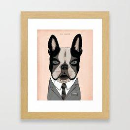 Mad Men Dogs: Dog Draper Framed Art Print