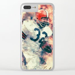 Jim Brown Clear iPhone Case
