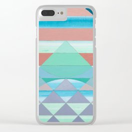 Pyramid Sun Orange Clear iPhone Case