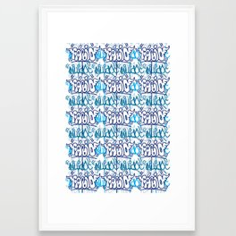 Azul Colonial Framed Art Print