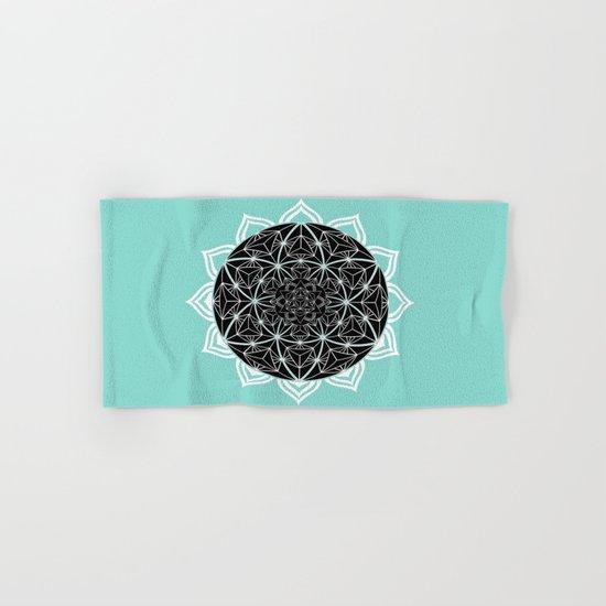 Teal Mandala Hand & Bath Towel