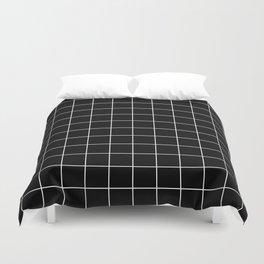 12 Grid Black White Minimal Modern Boho Duvet Cover