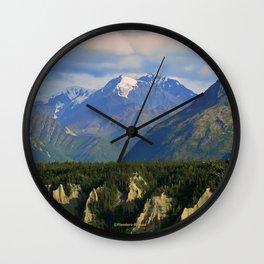 Northern Chugach Mountains Wall Clock