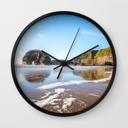 Nun's Beach Reflections Wall Clock