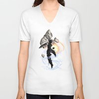 avatar V-neck T-shirts featuring The Avatar by Toronto Sol