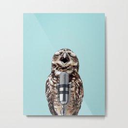 SINGING OWL Metal Print