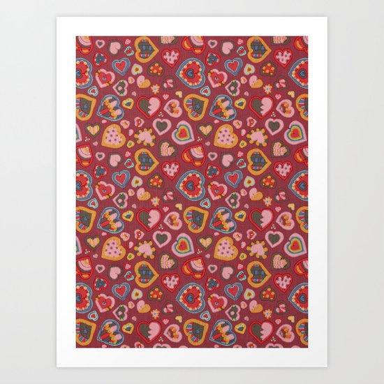 I Heart Patterns Art Print