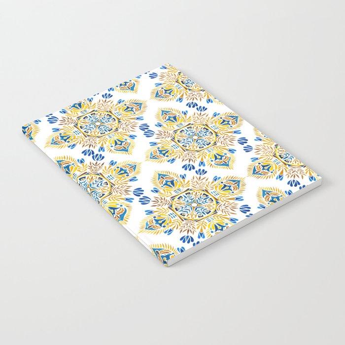 Wheat field with cornflower - mandala pattern Notebook
