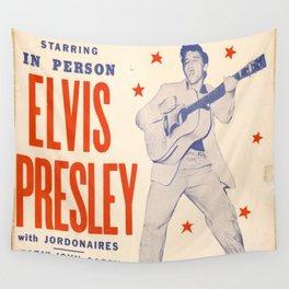 Vintage Music Art Poster - Elvis Presley In Tupelo Mississippi 0391 Wall Tapestry