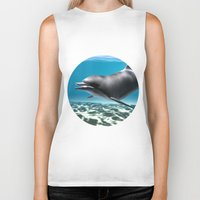 dolphin Biker Tanks featuring Dolphin by Design Windmill