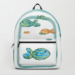 Swimming around in the middle of the sea Backpack