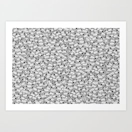 Surveillance Frenzy Art Print