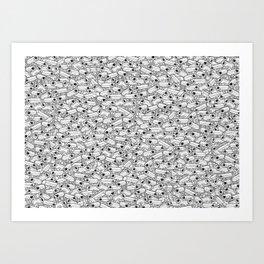 Surveillance Frenzy Art Print