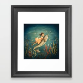 Narwhal Girl by Emily Winfield Martin Framed Art Print