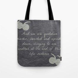 Quotation Mark Dark Tote Bag