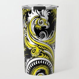 Sky Above Me Earth Below Me Fire Within Me -  Yin Yang Dragon Swirl Travel Mug