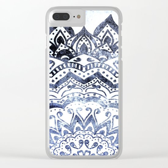 BLUE ORION JEWEL MANDALA Clear iPhone Case