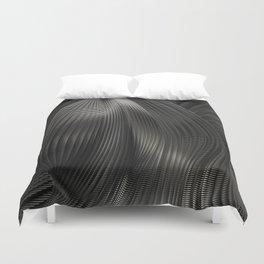 Black Steel Abstraction Duvet Cover