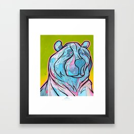 """ART-ik Bear"" Framed Art Print"