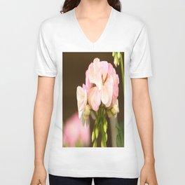 Soft Pink Petals #decor #society6 Unisex V-Neck