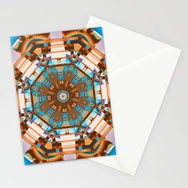 Geometric kaleidoscope with optical effects Stationery Cards