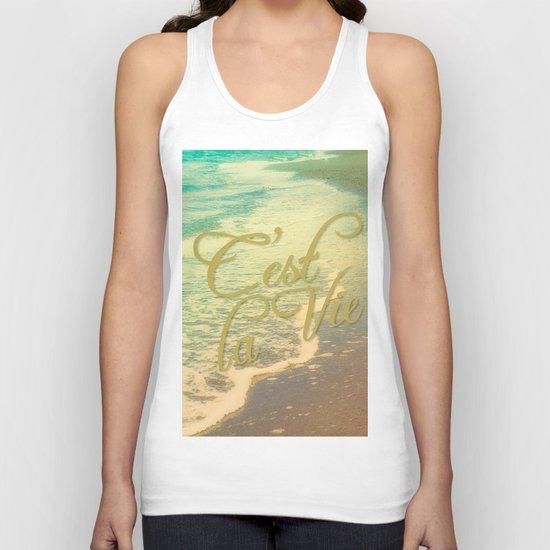 Beach Waves I - C'est La Vie Unisex Tank Top