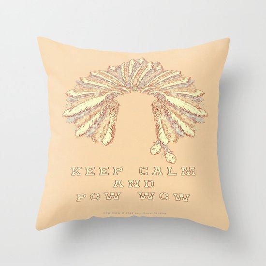 POW WOW - 043 Throw Pillow