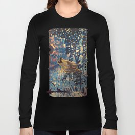 THE WOLF HOWLED AT THE STAR FILLED NIGHT Long Sleeve T-shirt