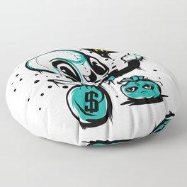 Money tee Saying No Money No Life T-shirt Design Dollars Cash Coins Wealth Property Salary Wage Floor Pillow
