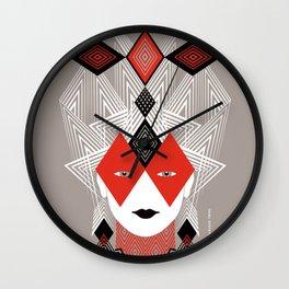 The Queen of diamonds Wall Clock