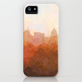 Madison, Wisconson Skyline - In the Clouds iPhone Case