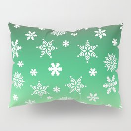 Snow Flurries-Green/Cream Ombre Pillow Sham