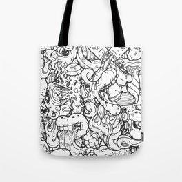 Alphabetcha Collage b&w Tote Bag