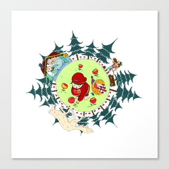 Little Red Riding Cap Canvas Print