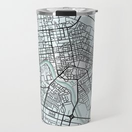 Astana, Kazakhstan, White, City, Map Travel Mug