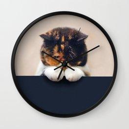 Lonley Cat Wall Clock