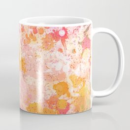 Abstract Paint Splatters Pink & Orange Coffee Mug