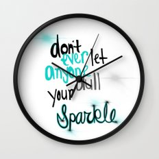 Unique Sparkle Wall Clock