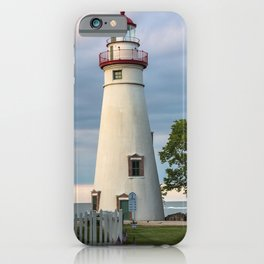 Marblehead Lighthouse at Lake Erie Sandusky area Ohio iPhone Case