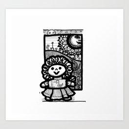 Mexican doll Art Print