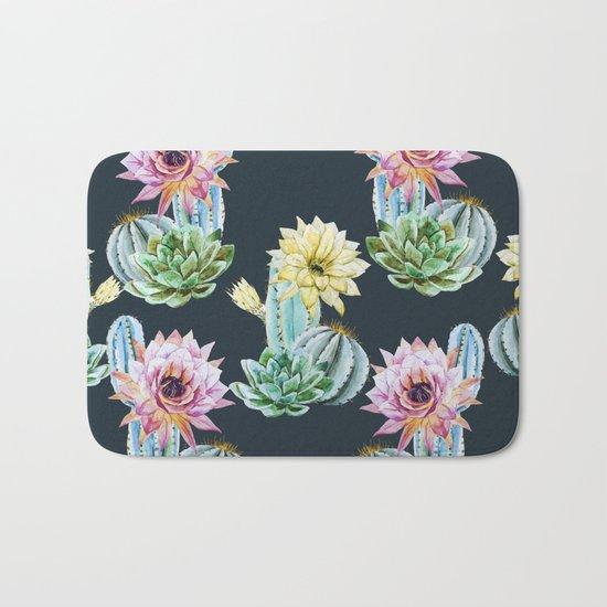 Cactus Pattern 07 Bath Mat