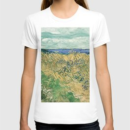"Vincent Van Gogh ""Wheat Field With Cornflowers"" T-shirt"