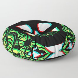 Green Skull 3d Floor Pillow