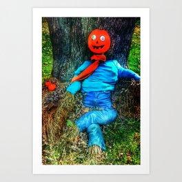 crazy eyes scarecrow Art Print