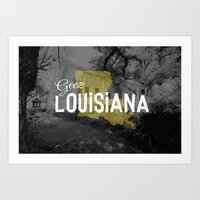 Geez Louisiana Art Print
